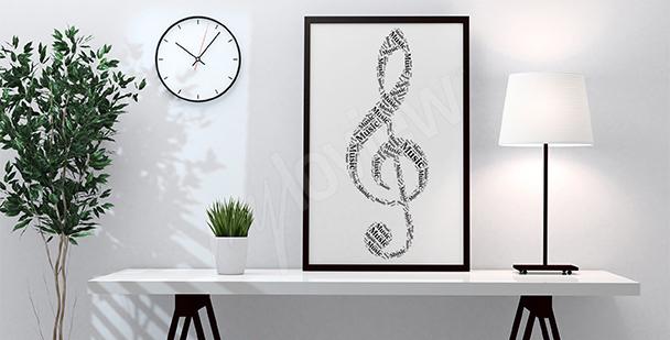 Poster Violinschlüssel fürs Wohnzimmer