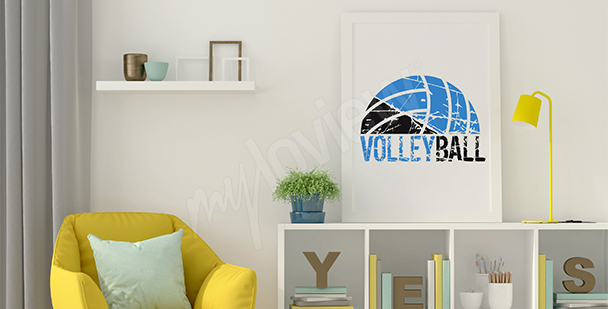 Poster Volleyball fürs Wohnzimmer
