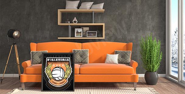 Poster Volleyball-Meisterschaften