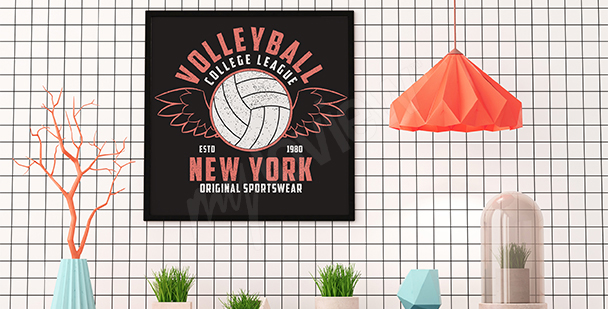 Poster Volleyball Retro