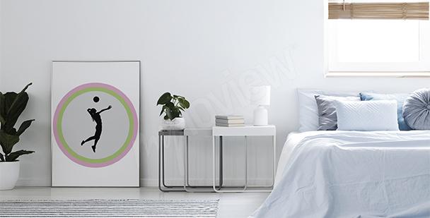Poster Volleyballspielerin fürs Schlafzimmer