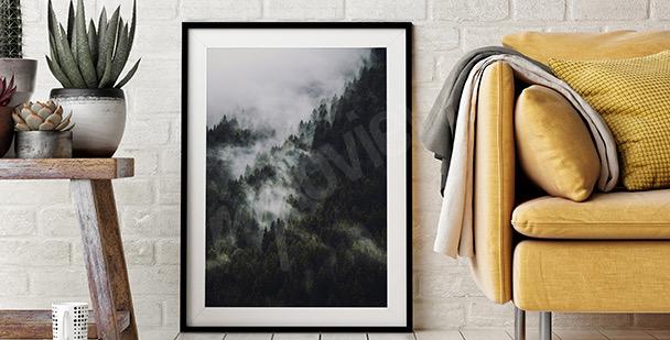 Poster Wald und Gebirge