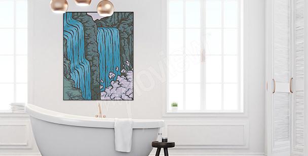 Poster Wasserfall fürs Badezimmer
