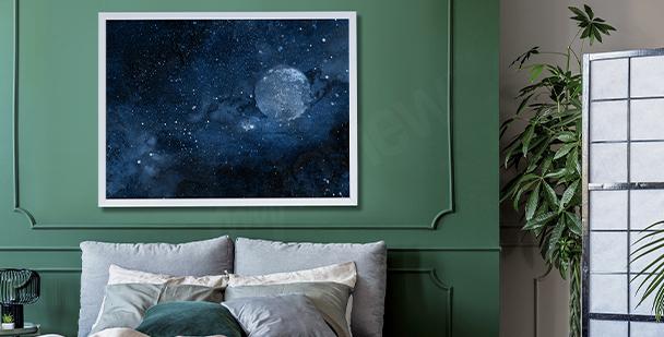 Poster Weltraum für das Schlafzimmer