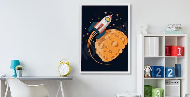 Poster Weltraum für Kinder