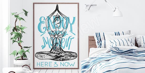 Poster Yogini fürs Schlafzimmer