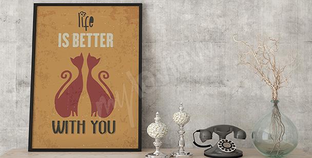 Poster zwei Katzen