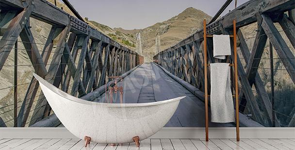Räumliche Fototapete fürs Badezimmer