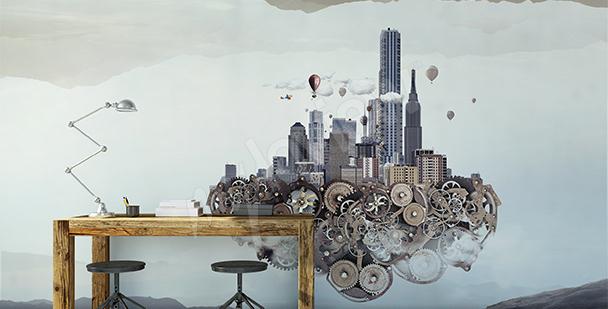 Räumliche Fototapete: Futurismus