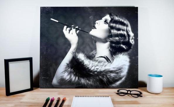 Retro Poster Schwarz-Weiß