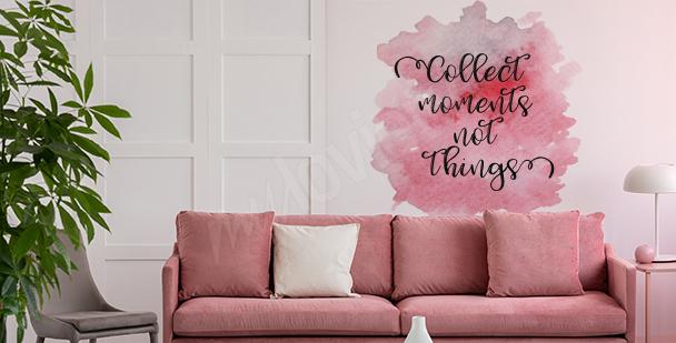 Rosa Sticker fürs Wohnzimmer