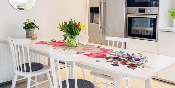 Rosen-Sticker für den Tisch