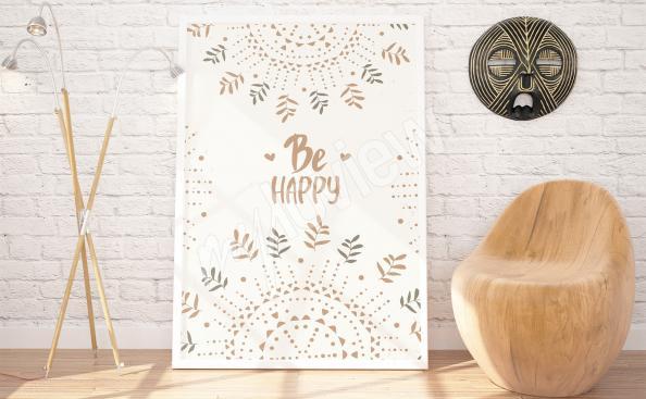 Scandi Poster mit dekorative Muster