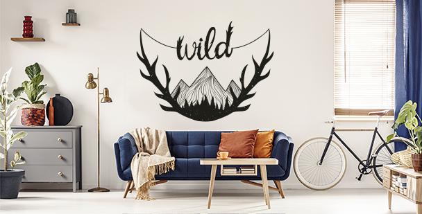 Sticker mit einem Spruch fürs Wohnzimmer