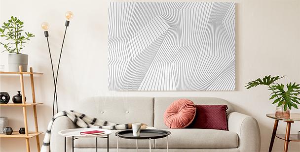 Schwarz-weißes 3D-Bild