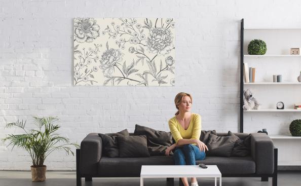 Schwarz-weißes Bild Blumen
