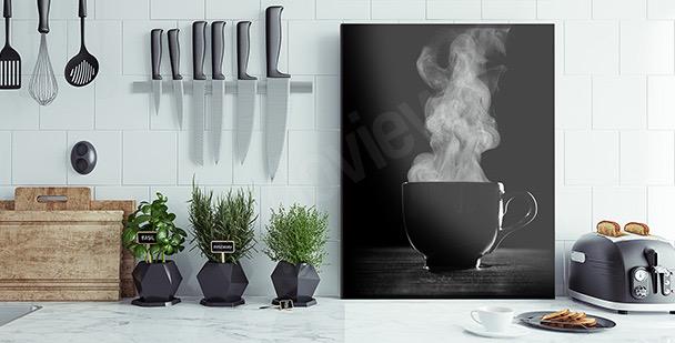 Schwarz-weißes Bild Kaffee