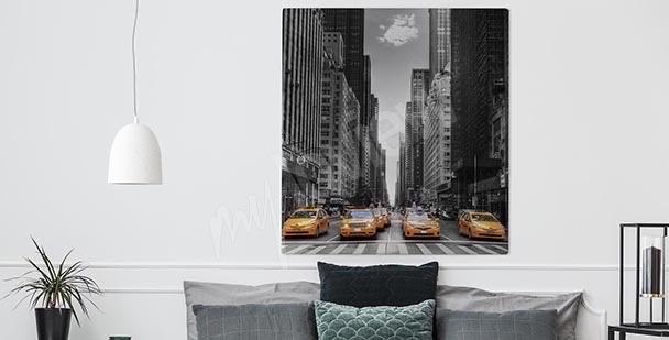 Schwarz-weißes Bild New York City