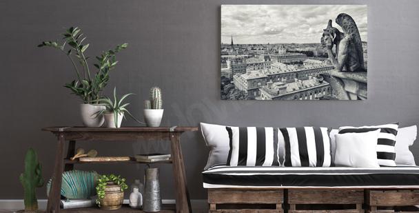 Schwarz-weißes Bild Paris