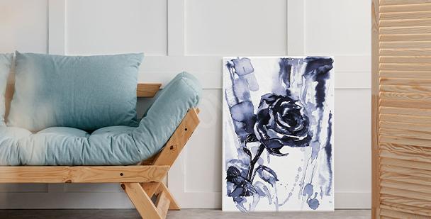 Schwarz-weißes Bild Rose