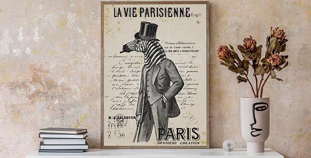 Schwarz-weißes Poster Vintage