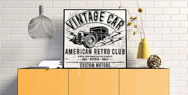 Schwarz-weißes Vintage-Poster