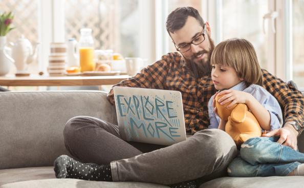 Skandinavischer Sticker für den Laptop