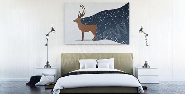 Skandinavisches Bild fürs Schlafzimmer