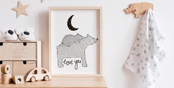 Skandinavisches Poster mit Bären