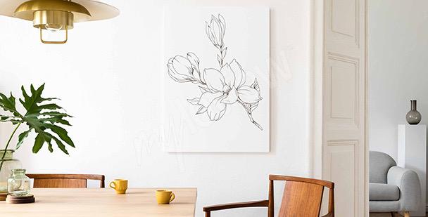 Skizzenbild im Blumenstil