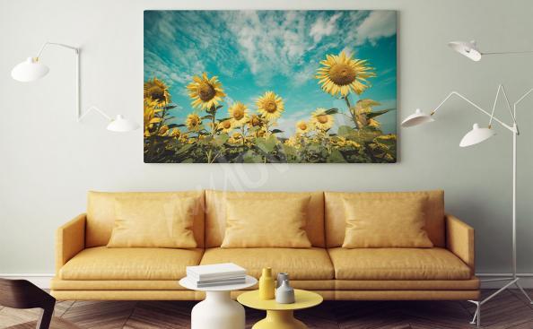 Sonnenblumen-Bild fürs Wohnzimmer