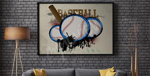 Sportplakat Baseball