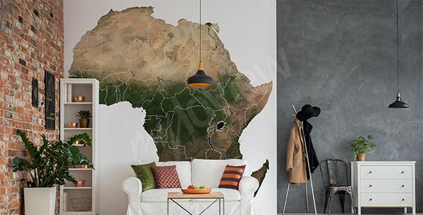 Sticker Afrika-Karte fürs Wohnzimmer