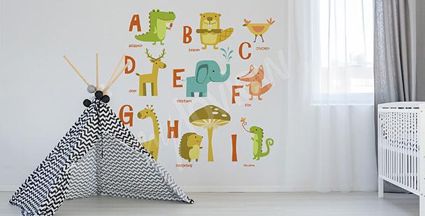 Sticker Alphabet englische Wörter