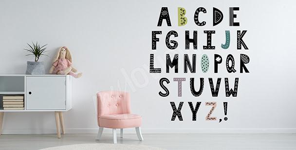 Sticker Alphabet im skandinavischen Stil
