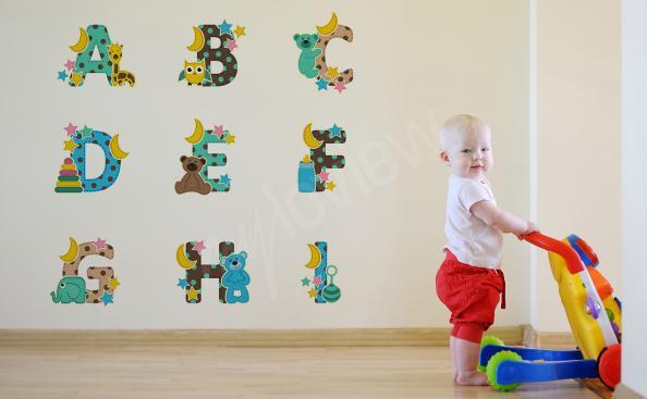 Sticker Alphabet mit Tieren