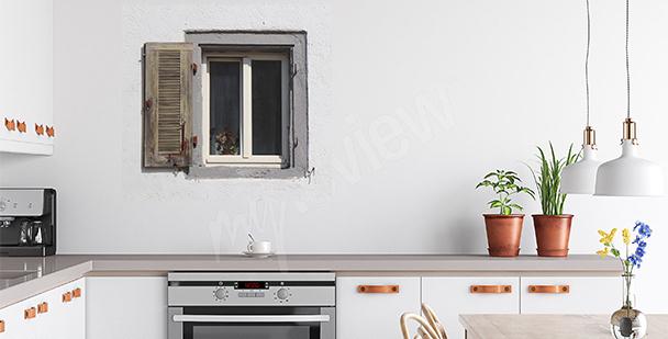 Sticker altes Fenster