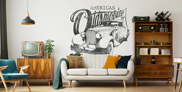 Sticker amerikanisches Auto