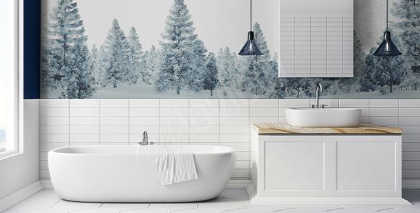 Sticker Baum fürs Badezimmer