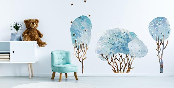 Sticker Baum und Vögel