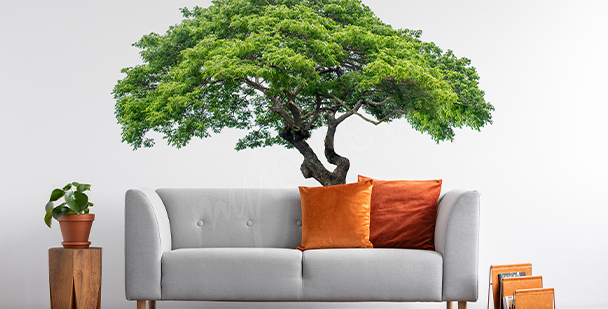 Sticker Baum mit Blättern