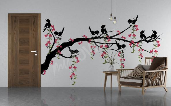 Sticker Baum mit Vögeln