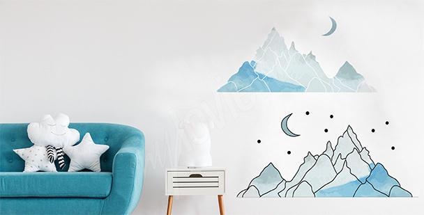 Sticker Berge fürs Kinderzimmer