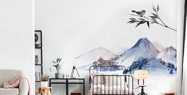 Sticker Berge fürs Schlafzimmer
