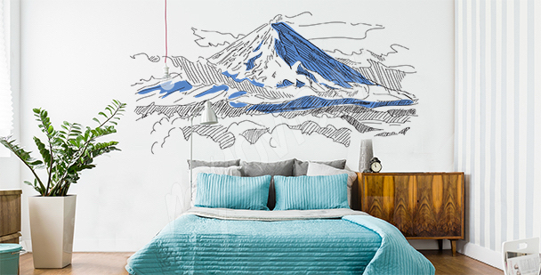 Sticker Berge in Russland