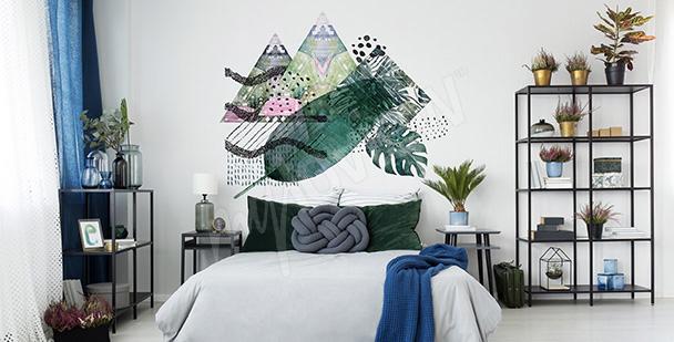 Sticker Blätter und Dreiecke