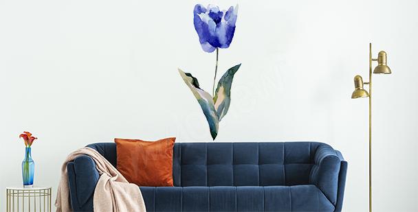Sticker blaue Tulpe