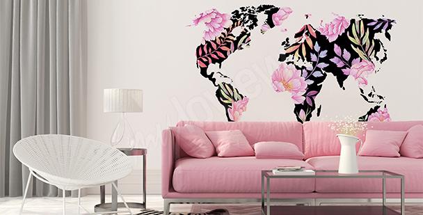 Sticker Blumenweltkarte