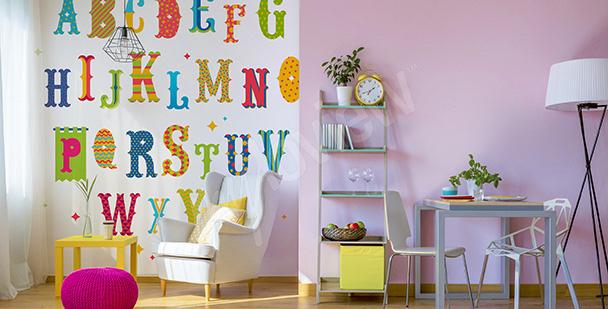Sticker bunte Buchstaben für Kinder