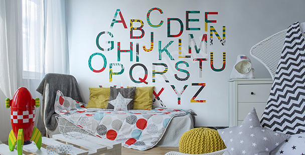 Sticker buntes Alphabet